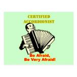 Acordeonista certificado postal