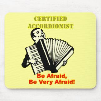 Acordeonista certificado tapete de ratones