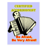 Acordeonista certificado tarjetas postales