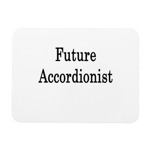 Acordeonista futuro imanes rectangulares
