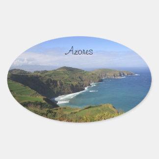 Açores/pegatina de Azores Pegatina Ovalada