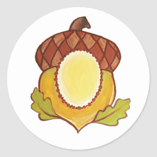 Acorn A Mighty Oak in Progress Classic Round Sticker