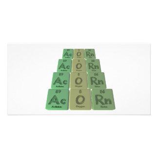 Acorn-Ac-O-Rn-Actinium-Oxygen-Radon Photo Card