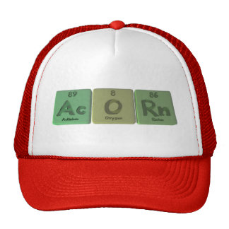 Acorn-Ac-O-Rn-Actinium-Oxygen-Radon Trucker Hat