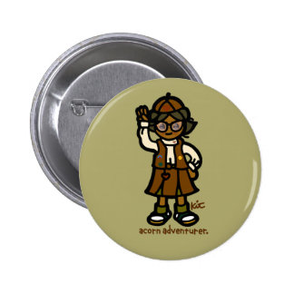 acorn adventurer official badge. button