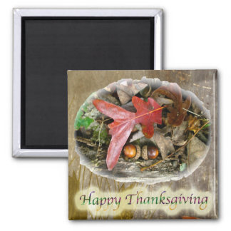 Acorn and Oak Leaf Thanksgiving Magnet