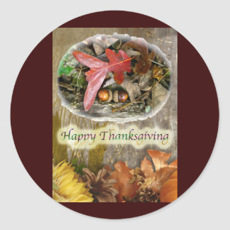Acorn and Oak Leaf Thanksgiving Sticker