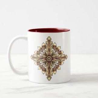 Acorn and Oakleaf Pentagram Cup Two-Tone Coffee Mug
