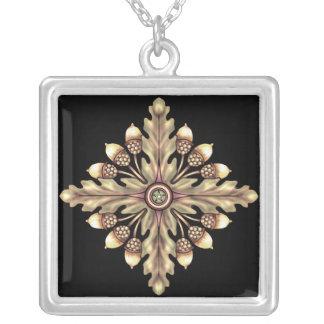 Acorn and Oakleaf Pentagram Necklace