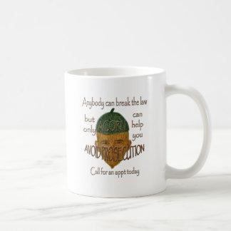 Acorn - Anybody can break the law... Coffee Mug