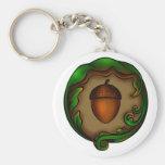 acorn basic round button keychain