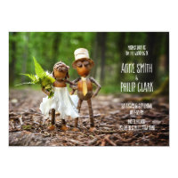 Acorn elf wedding invitation
