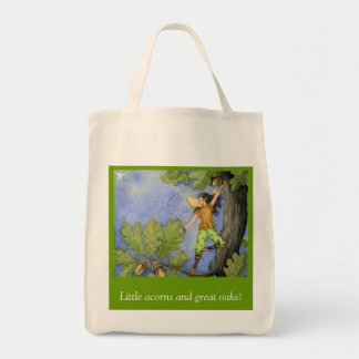 Acorn Fairy grocery bag