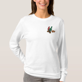 Acorn & Fall Leaves Embroidered T-Shirt Design