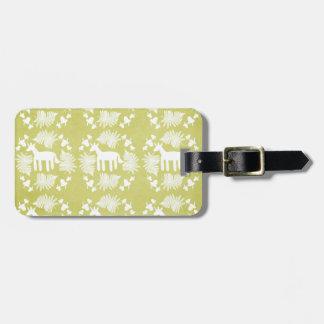 Acorn Fern Unicorn Luggage Tag