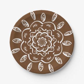 Acorn Mandala Paper Plate