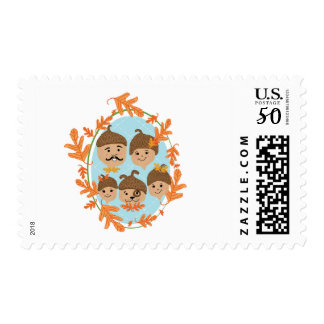 Acorn Nuclear Family Postage