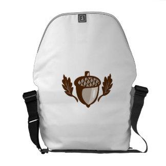 Acorn Oak Leaf Isolated Retro Messenger Bag