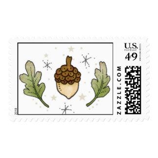 Acorn, Oak Leaves Postage Stamps