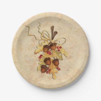 Acorn Paper Plate