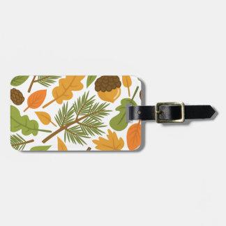 Acorn Pattern Luggage Tag