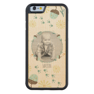 Acorn Paw Prints and Arrows New Baby Photo Carved® Maple iPhone 6 Bumper