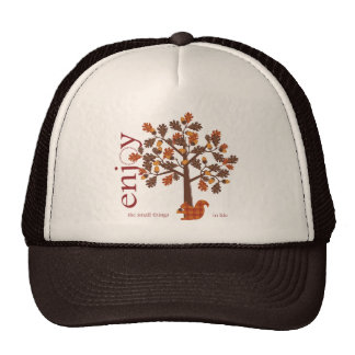 Acorn Tree with Squirrel for Thanksgiving Hat