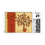 Acorn Tree with Squirrel for Thanksgiving Postage Stamp
