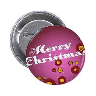 Acornament Mauve Retro Christmas Ornament Pinback Button