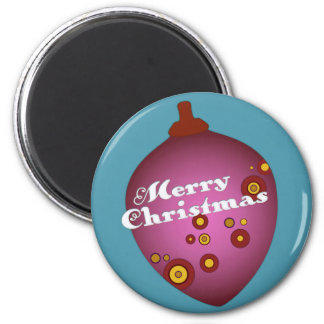Acornament Mauve Retro Christmas Ornament Magnet