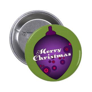 Acornament Purple Christmas Pins