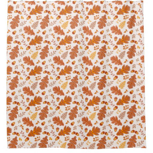 Acorns And Fall Leaves Shower Curtain
