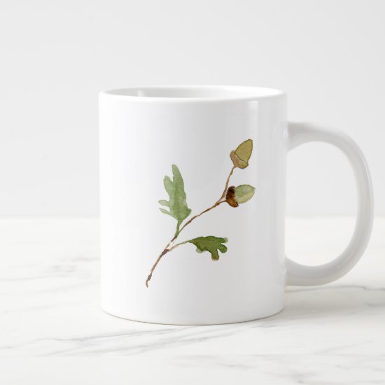 Acorns and Oak Leaves | Giant Coffee Mug