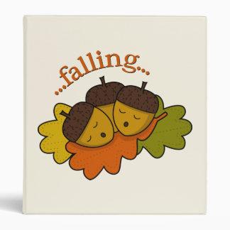 acorns falling (asleep) 3 ring binder