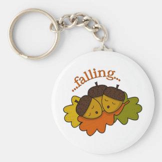 acorns falling (asleep) basic round button keychain
