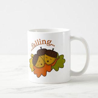 acorns falling (asleep) classic white coffee mug