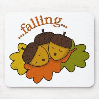 acorns falling (asleep) mouse pad