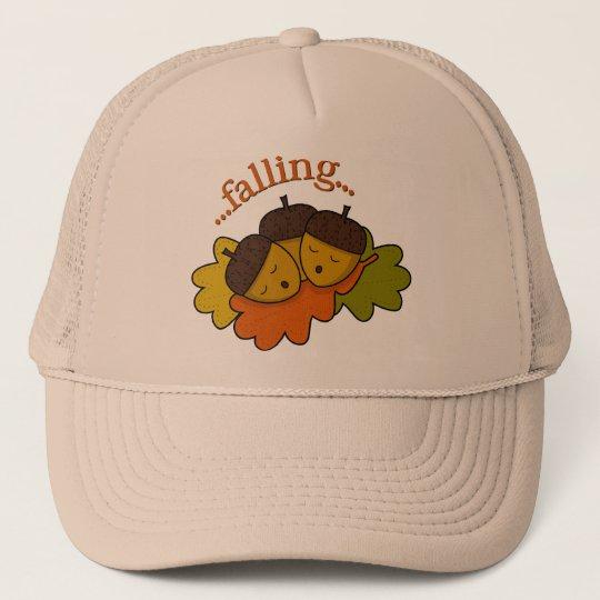 acorns falling (asleep) trucker hat