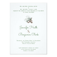 Acorns on Twigs Wedding Invitation