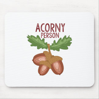 Acorny Person Mouse Pad