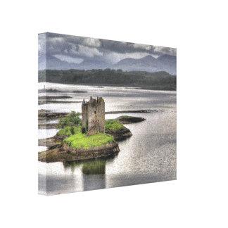 Acosador Appin Argyll Escocia del castillo Lona Envuelta Para Galerías