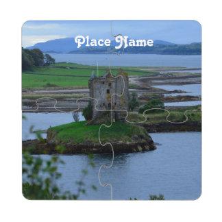 Acosador del castillo en Escocia