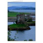 Acosador del castillo en Escocia Tarjeta