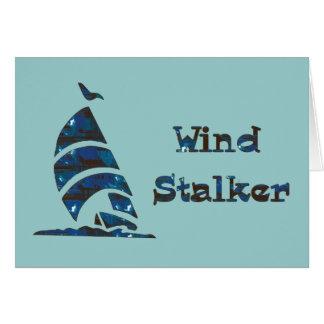Acosador del viento tarjeton