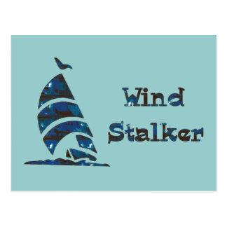 Acosador del viento postal