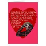 Acosador - día de San Valentín divertido Felicitacion