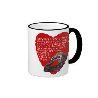 Acosador - día de San Valentín divertido Tazas De Café