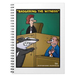 """""""Acosando el testigo """" Libro De Apuntes Con Espiral"""