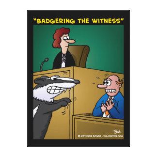 """""""Acosando el testigo """" Lona Envuelta Para Galerias"""