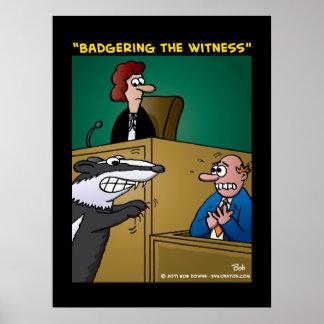"""Acosando el testigo "" Póster"